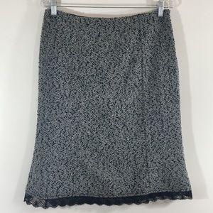 White House Black Market Gray & Black Wool Skirt 6